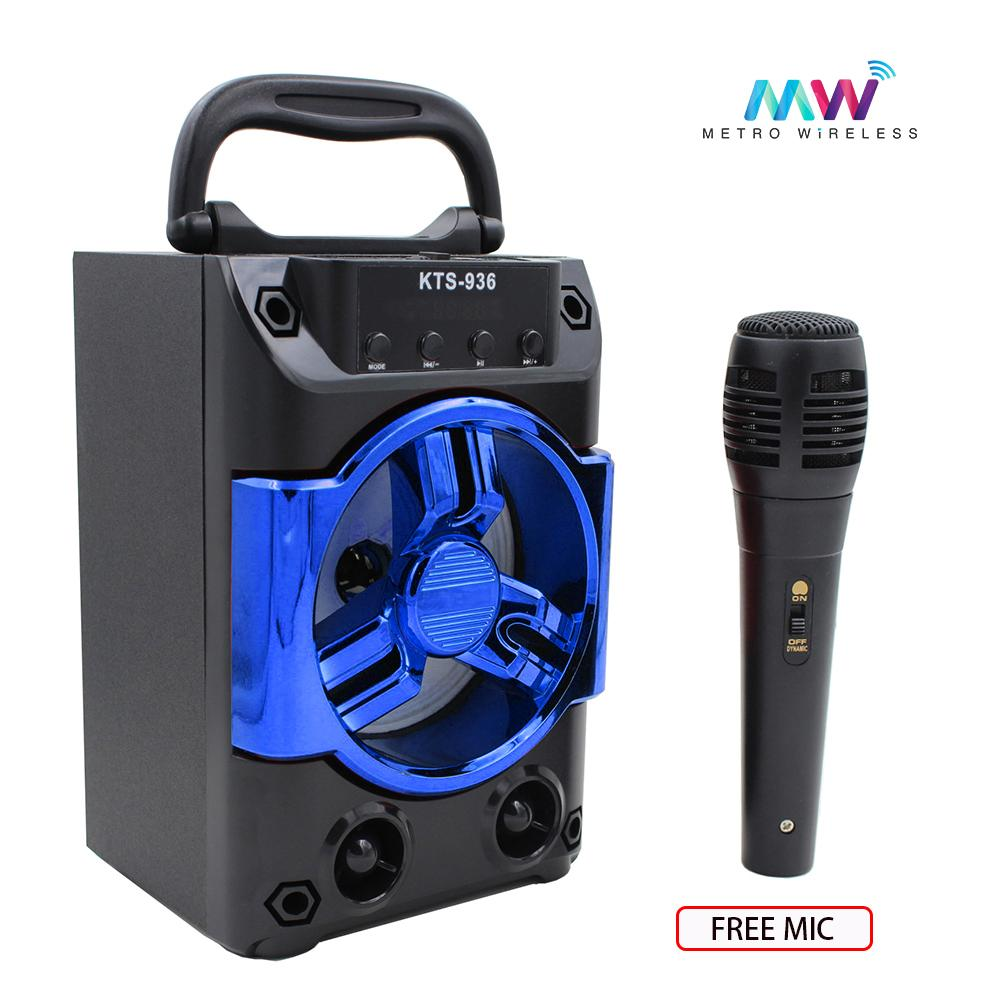 medium resolution of karaoke portable wireless bluetooth speaker with microphones kts 936 blue