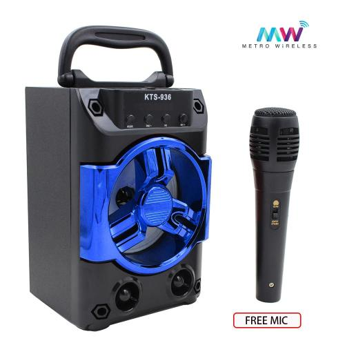 small resolution of karaoke portable wireless bluetooth speaker with microphones kts 936 blue