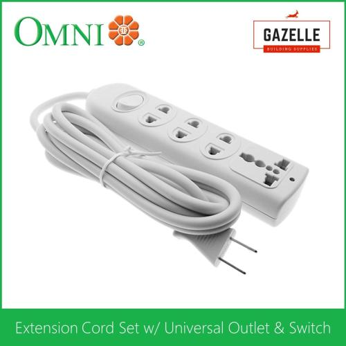 small resolution of omni extension cord set w universal outlet and switch 1 83 meter wire wer