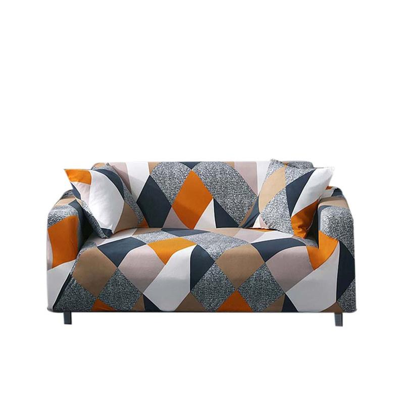 single couch chair cover black metal slipcovers for sale slipcover prices brands review in easybuy 3 seater printed stretch elastic sofa furniture protector intl
