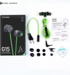 mobiz original plextone g15 gaming earphone magnet wired sport earphone in ear stereo noise cancelling [ 1500 x 1500 Pixel ]