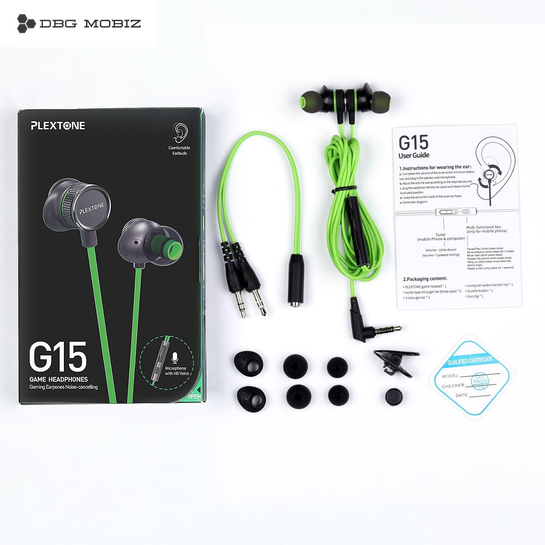 hight resolution of mobiz original plextone g15 gaming earphone magnet wired sport earphone in ear stereo noise cancelling