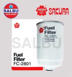 sakura fuel filter fc 2801 for hyundai grand starex 2008  [ 1000 x 1000 Pixel ]
