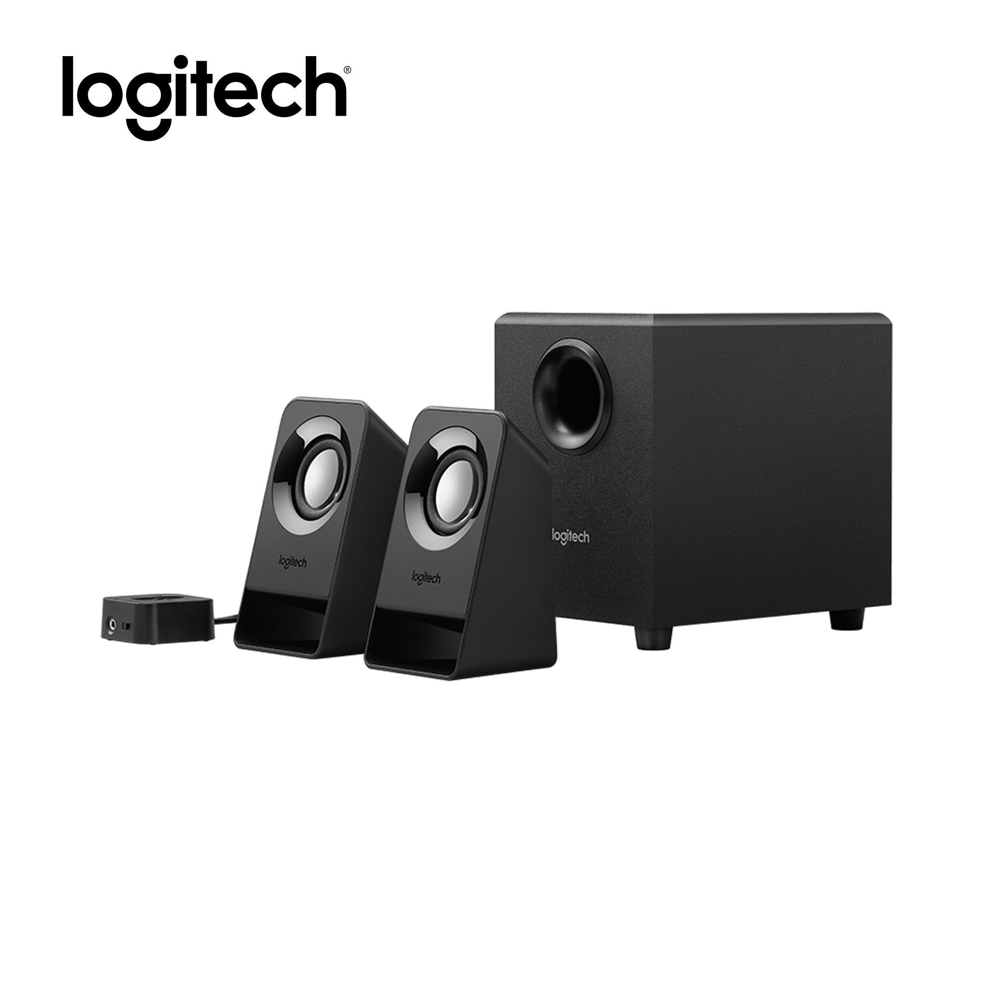 hight resolution of logitech z213 compact 2 1 stereo speaker system 3 5mm connection 14watts peak 7watts