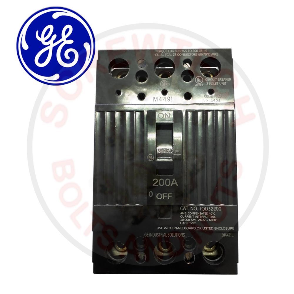 medium resolution of ge 200amp 10ka 240vac 3 pole q line tqd series molded case circuit breaker