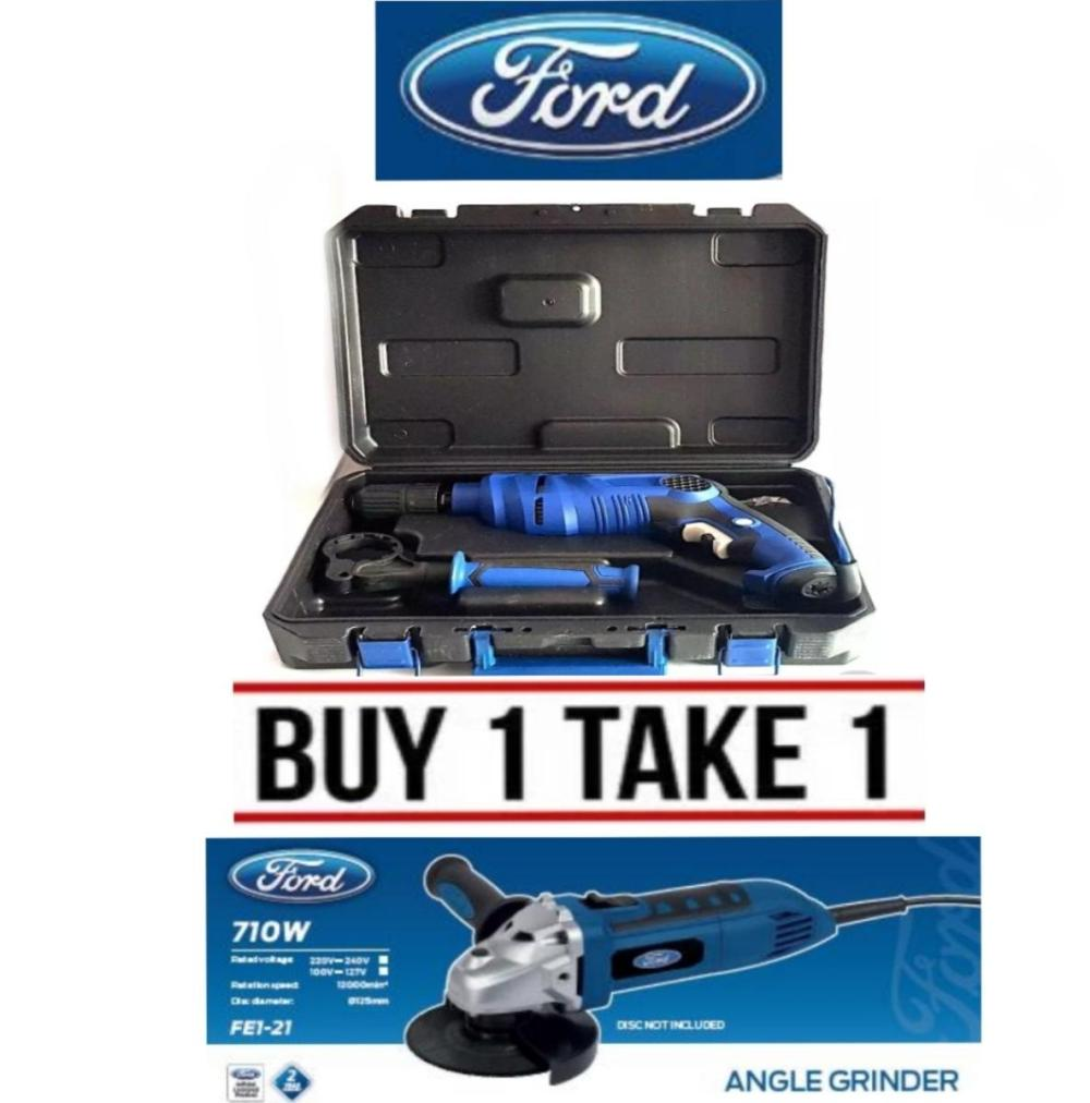 medium resolution of ford buy 1 take 1 impact drill 910w with pvc case fx1 11 angle grinder