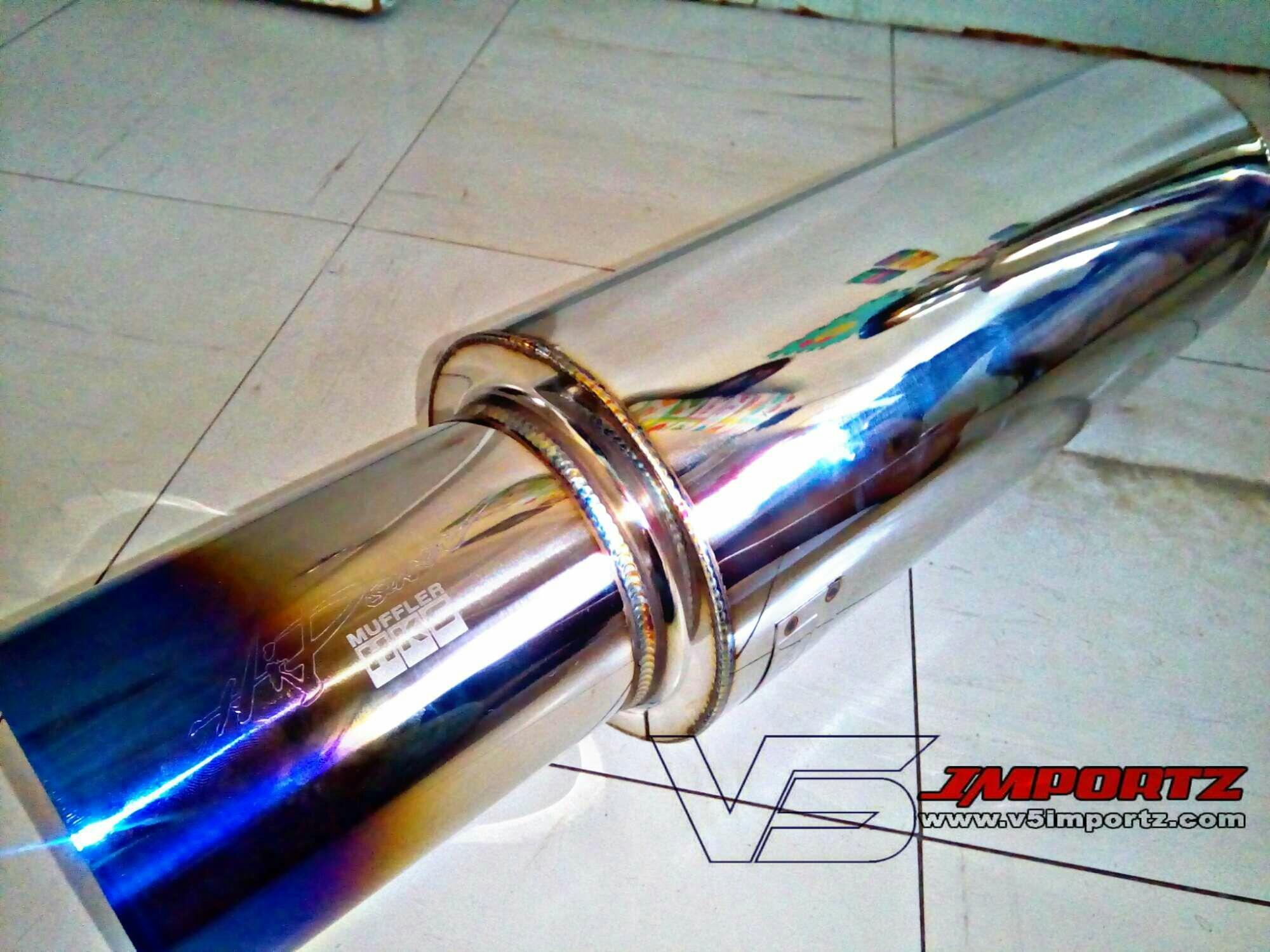 hight resolution of hks free flow hyper short small can burned tip v5importz
