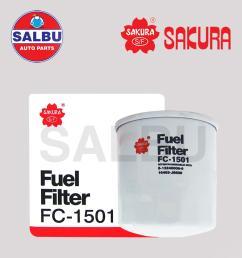 sakura fuel filter fc 1501 fc 208a d6014 for isuzu d [ 1000 x 1000 Pixel ]