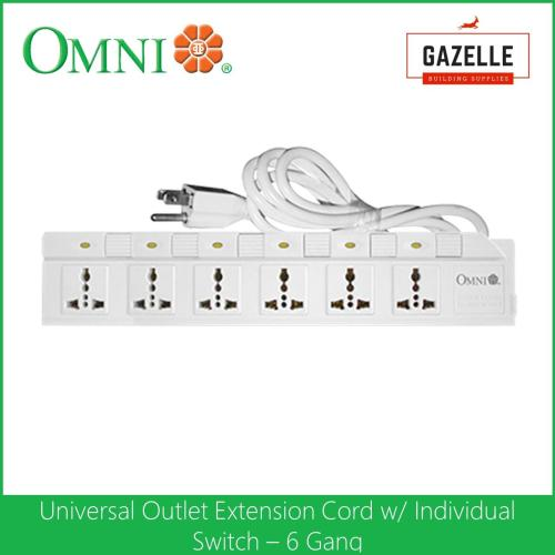 small resolution of omni extension cord set with individual switch 6 gang 1 83 meter wire wed 360