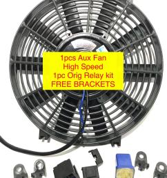 aux fan universal 12v original with relay kit universal car aircon parts [ 1500 x 2000 Pixel ]