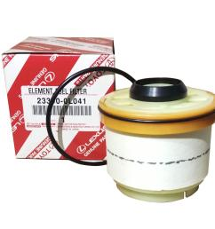 toyota genuine parts fuel filter 23390 0l041 for toyota innova fortuner hi  [ 2000 x 1619 Pixel ]