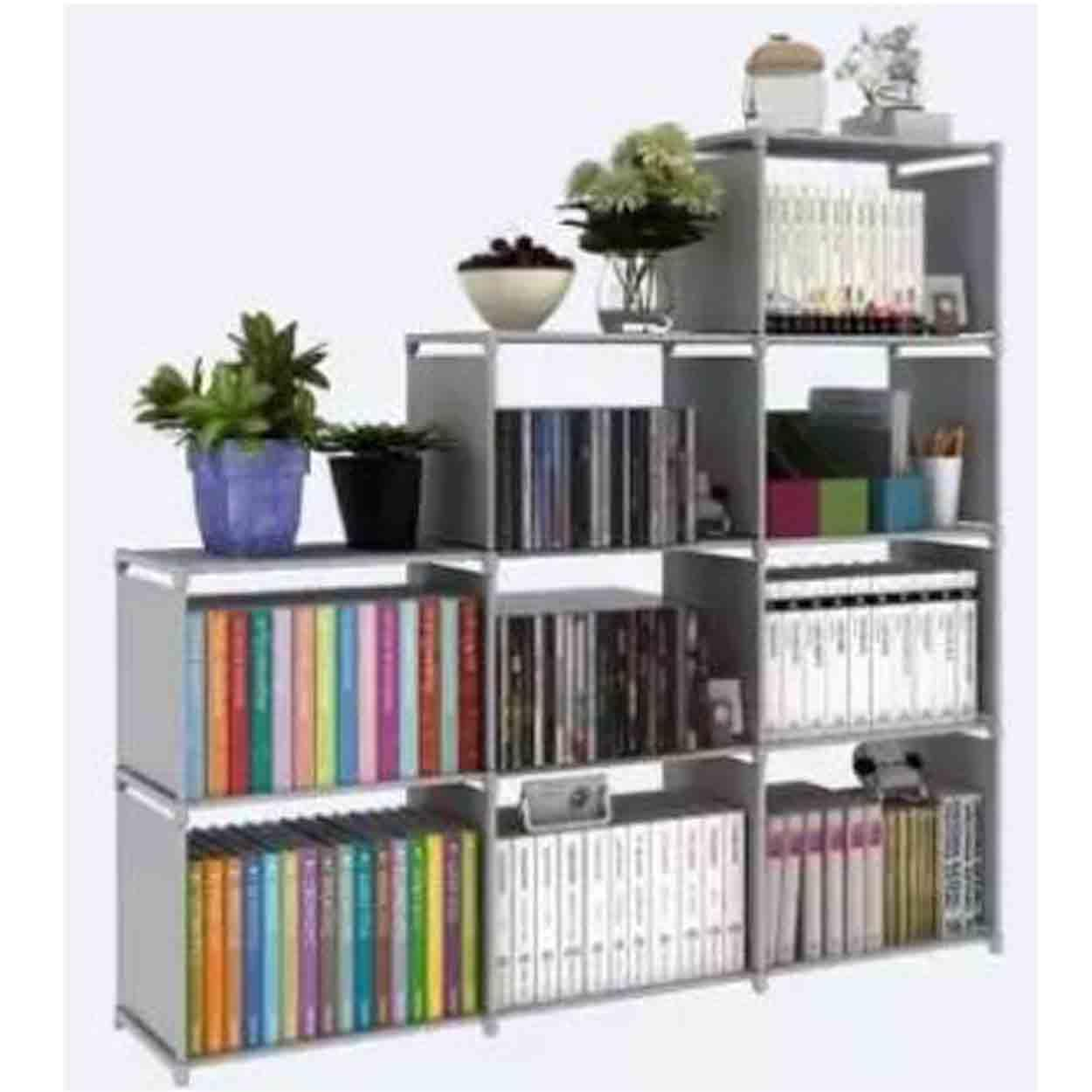 living room furniture for sale storage ideas prices brands review quality home adjustable bookcase bookshelf with 9 book shelves grey