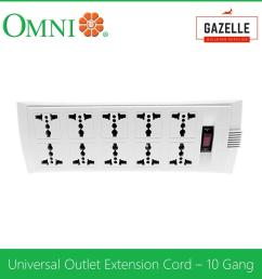 omni universal outlet extension cord 10 gang with switch 1 83 meter wire weu 110 [ 1285 x 1285 Pixel ]