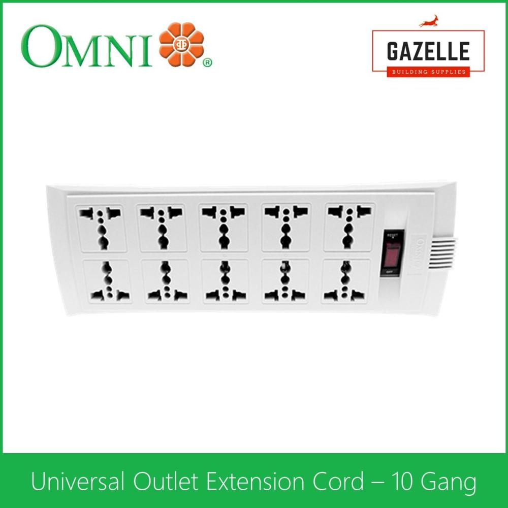 medium resolution of omni universal outlet extension cord 10 gang with switch 1 83 meter wire weu 110