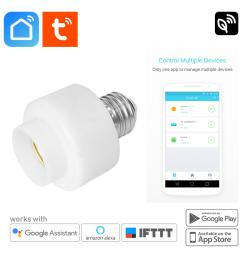 smart life wifi light bulb holder socket e27 home automation auto timer mobile app [ 1920 x 1920 Pixel ]