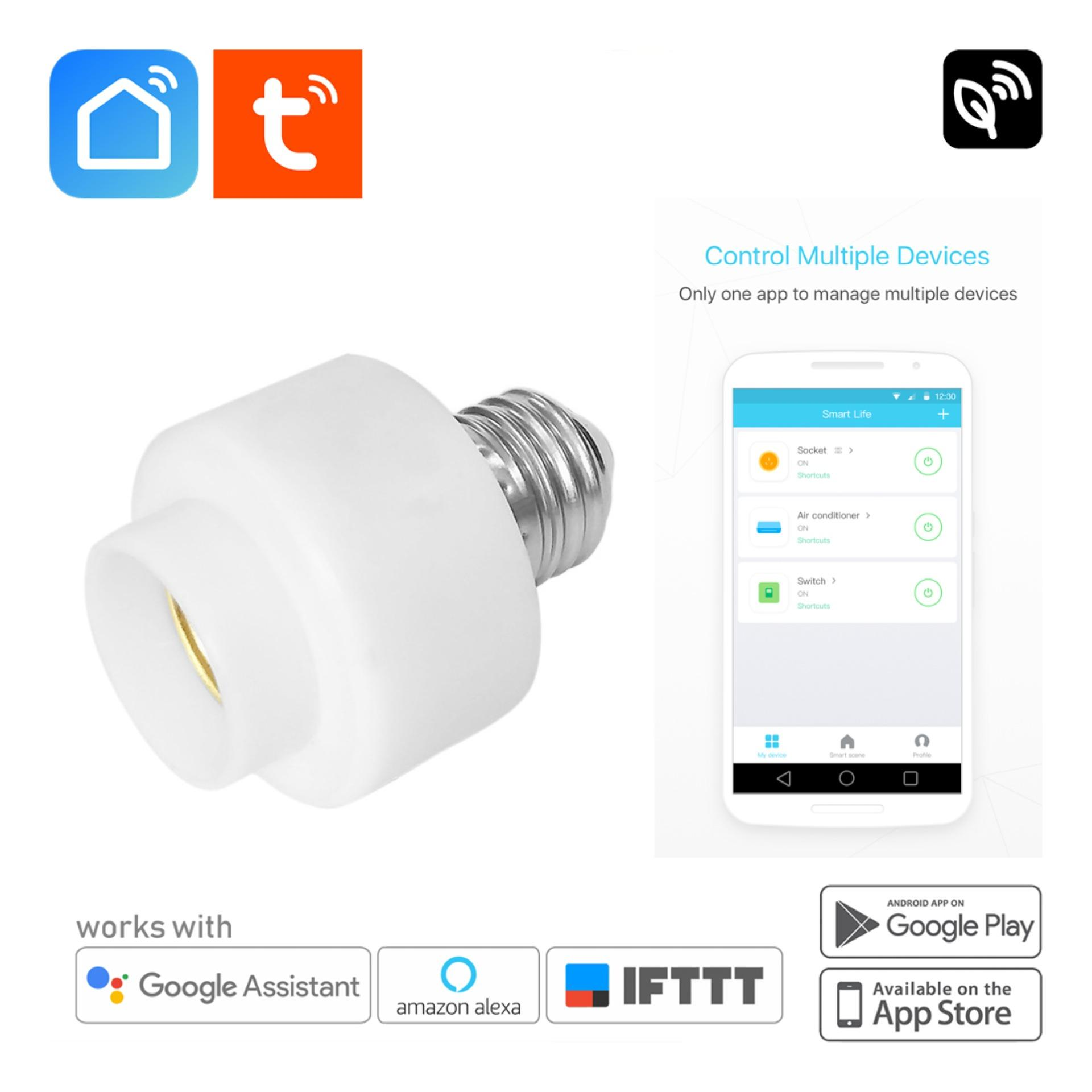 hight resolution of smart life wifi light bulb holder socket e27 home automation auto timer mobile app