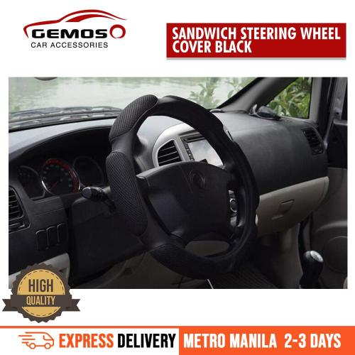 small resolution of universal steering wheel cover anti slip sandwich sport type 38cm black