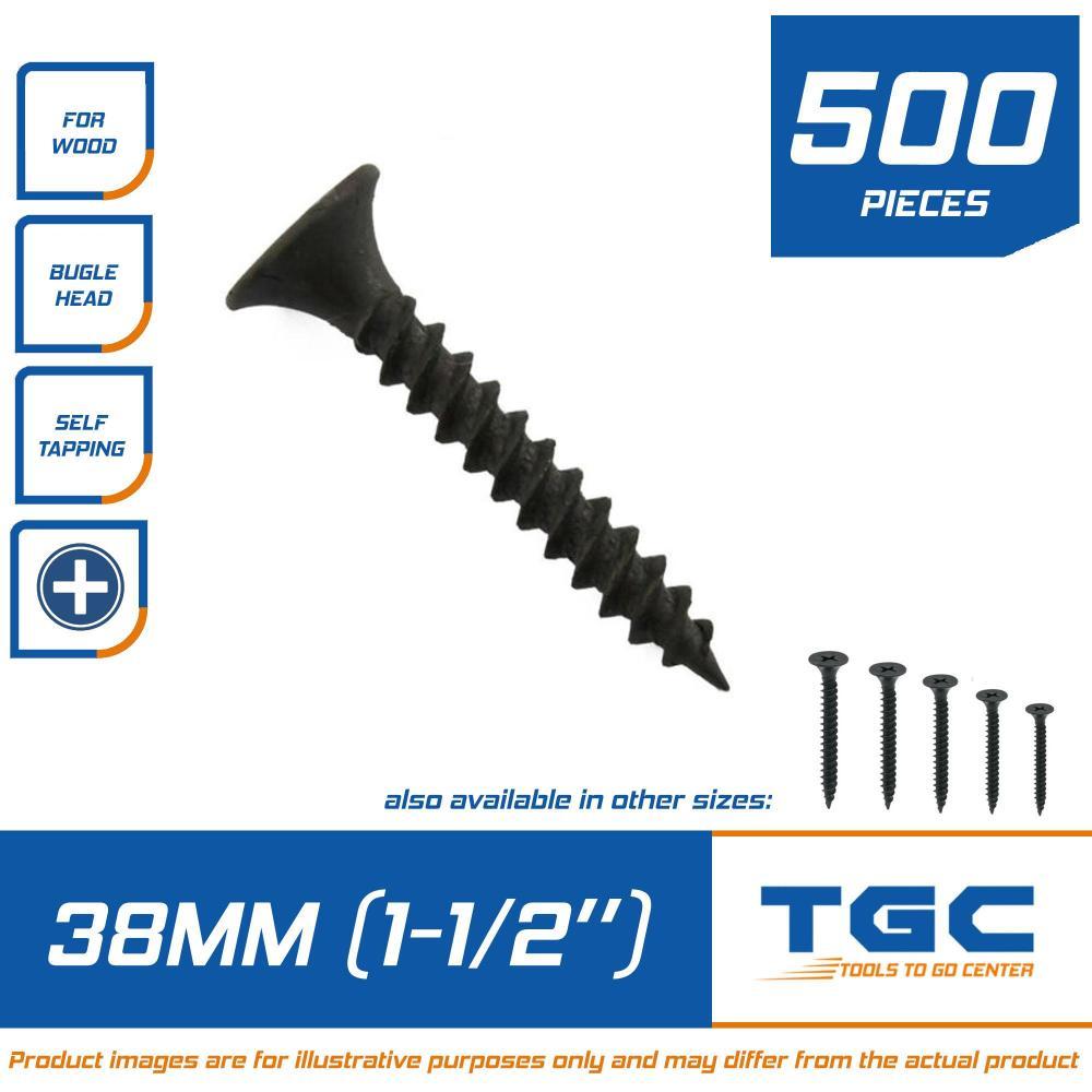 medium resolution of 500 pcs black screw 1 1 2 inch 38 mm for wood gypsum