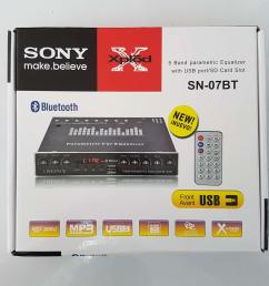 sony inspired sn 07bt 5 band parametric equalizer with usb port sd [ 2000 x 2000 Pixel ]