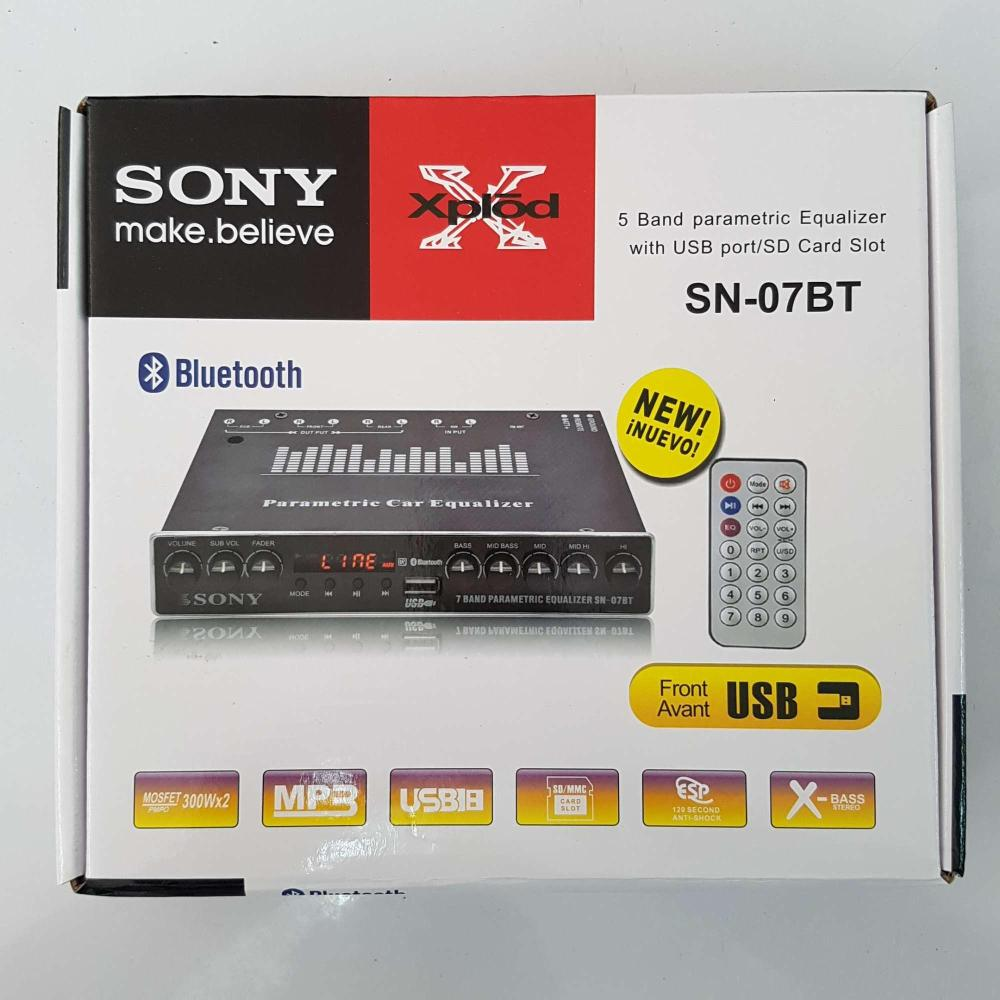 medium resolution of sony inspired sn 07bt 5 band parametric equalizer with usb port sd