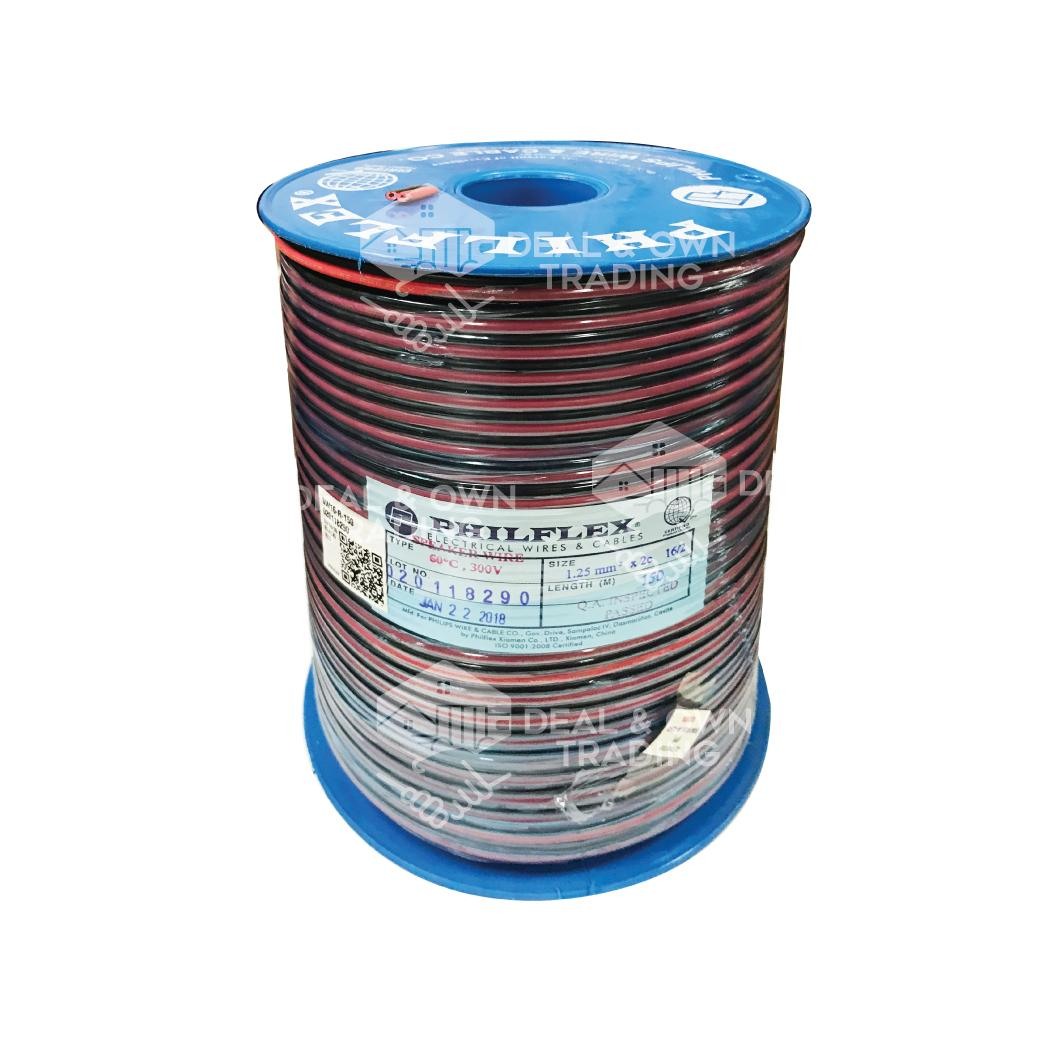 hight resolution of philflex 16 2 speaker wire black and red pure copper 150meters