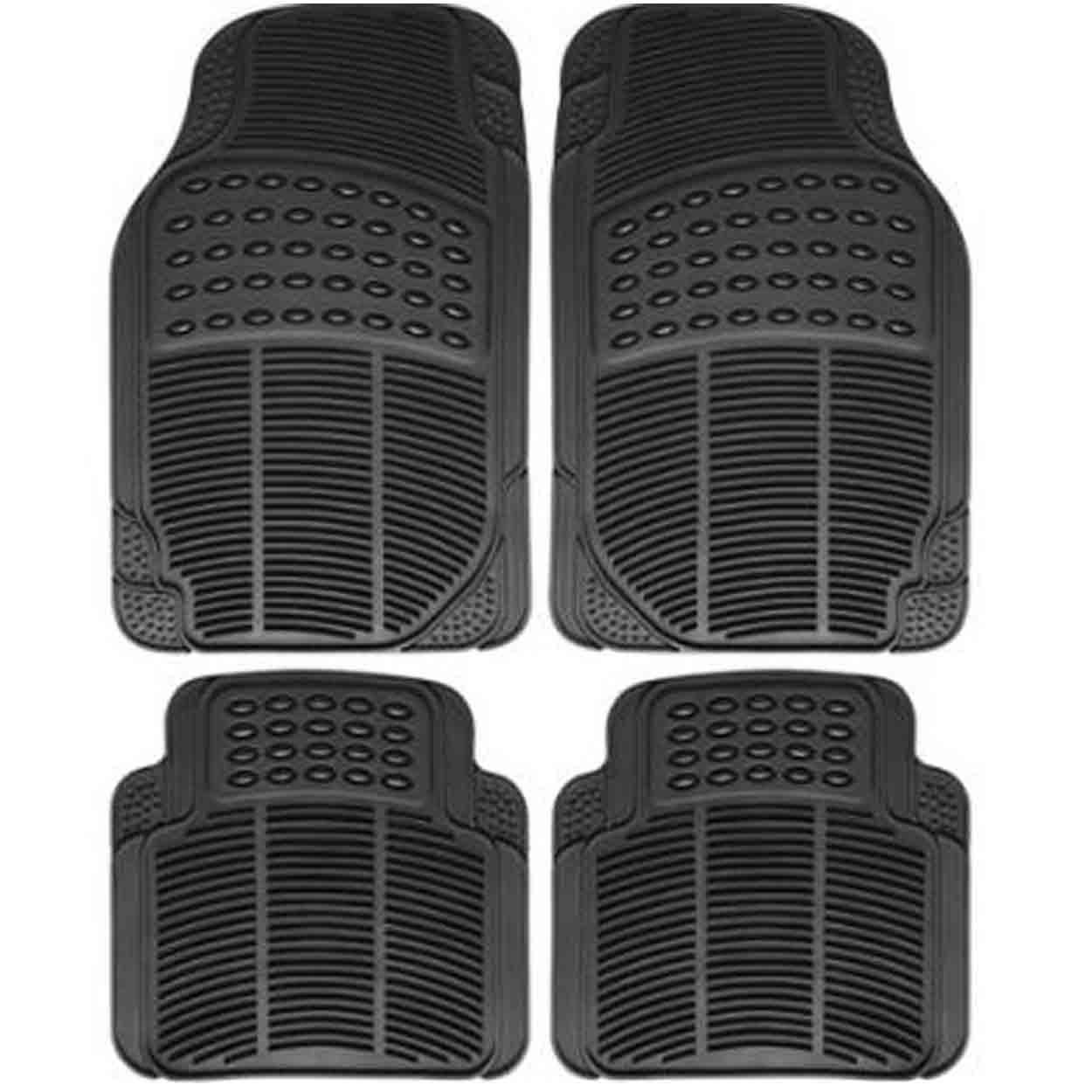 hight resolution of universal car mat rubber car matting 4pcs set black