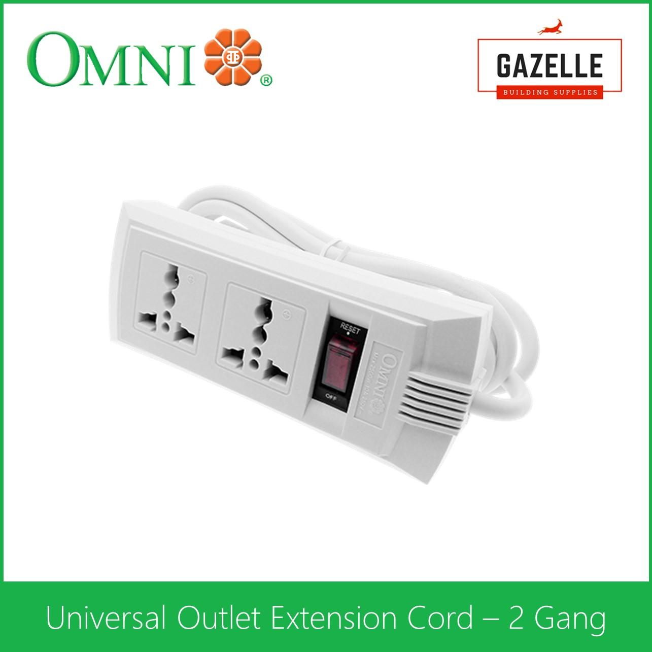 hight resolution of omni universal outlet extension cord 2 gang with switch weu 102