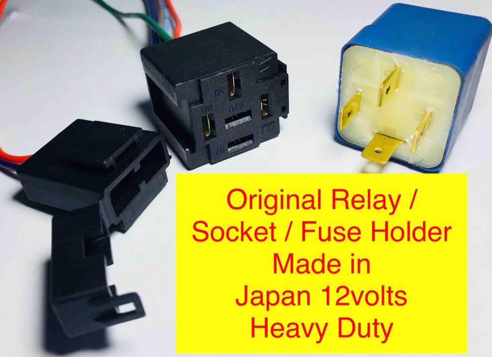 medium resolution of car auto relay 12v socket fuse holder like bosch original universal