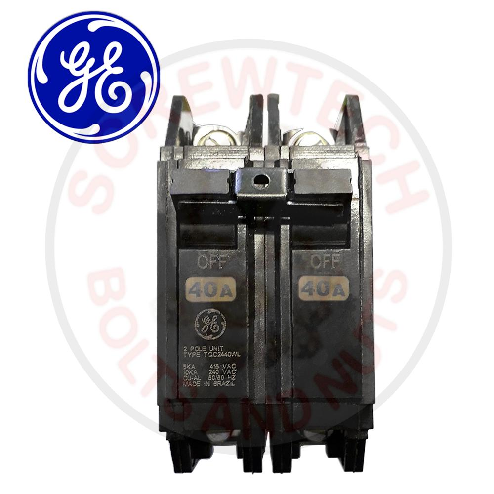 hight resolution of ge circuit breaker 40a 2 pole tqc2440wl