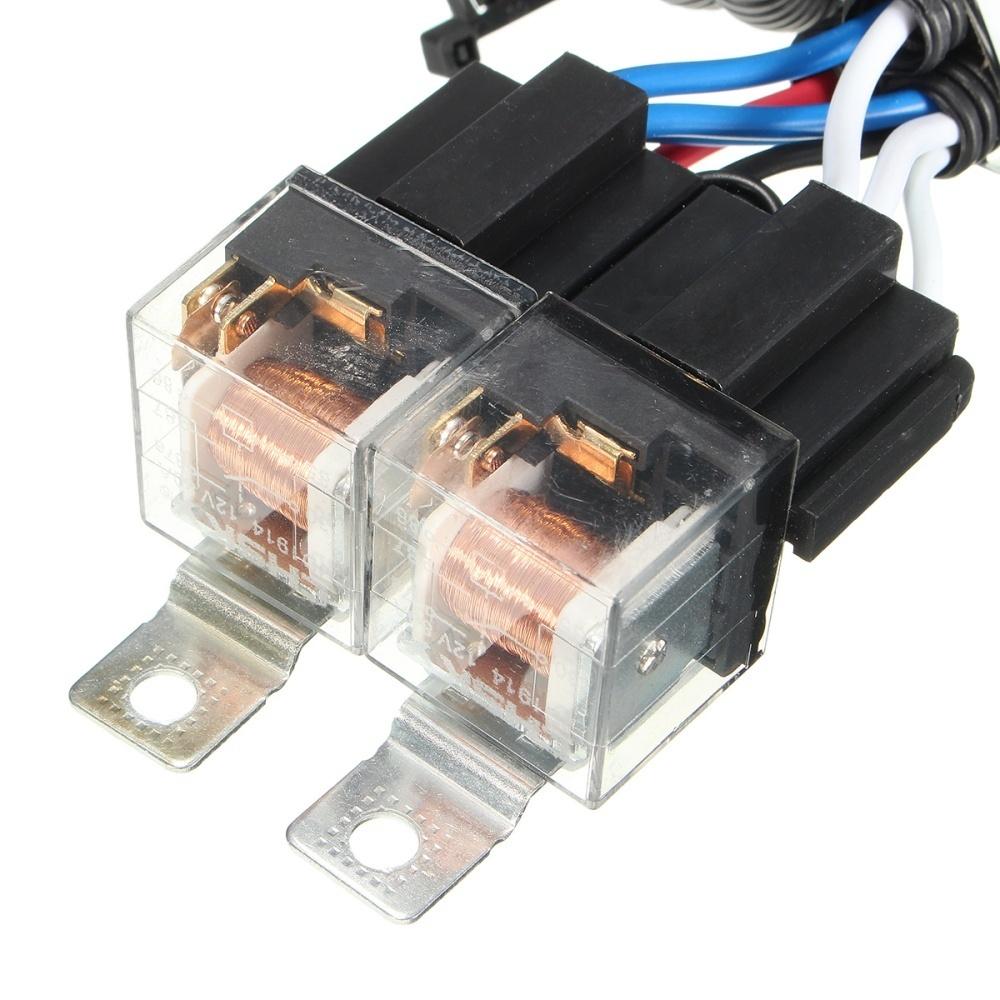 hight resolution of 7 h4 headlight 2 headlamp relay wiring harness car light bulb socket plug