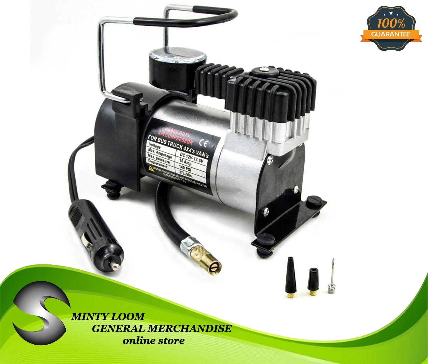 hight resolution of air compressor heavy duty pump electric tire inflator 12v 140psi 965kpa car care tool