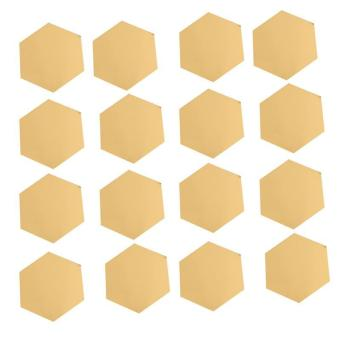 Ai Home Removable 12pcs Hexagonal Mirror Wall Stickers Decals Home