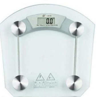 Digital LCD Electronic Tempered Glass Bathroom Weighing Scale 8mm