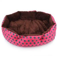 Foldable Dog Bed Strawberry Pet Nest Cat Bed Size M Red ...