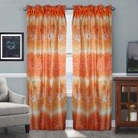 Curtain Decor Tulip Brown Sheer Window Panel 2pcs   Lazada PH