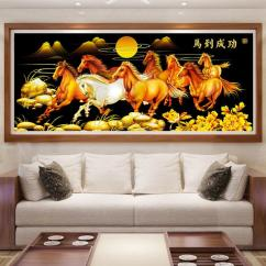 Wall Decor For Living Room Philippines Modern Interior Design 2016 Sale Art Prices Brands Review In 5d Diamond Diy Full Pasted Eight Horses Painting 10434 120 X 55cm