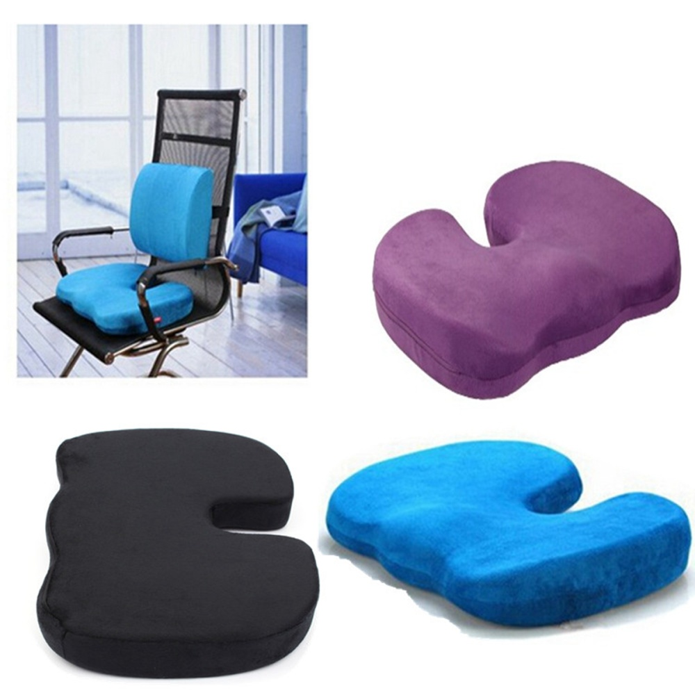 Desk Chair Seat Cushion Office Chair Orthopedic Seat Cushion Release Pillow Memory Foam Black
