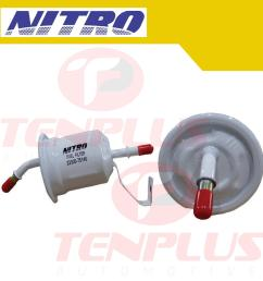 nitro fuel filter toyota innova hilux fortuner and hi ace 2005 2011 [ 2000 x 2000 Pixel ]
