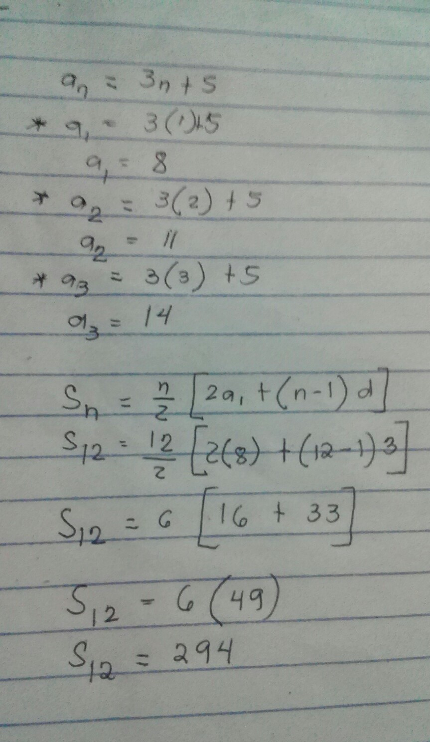 find the sum of the first 12 terms of the arithmetic