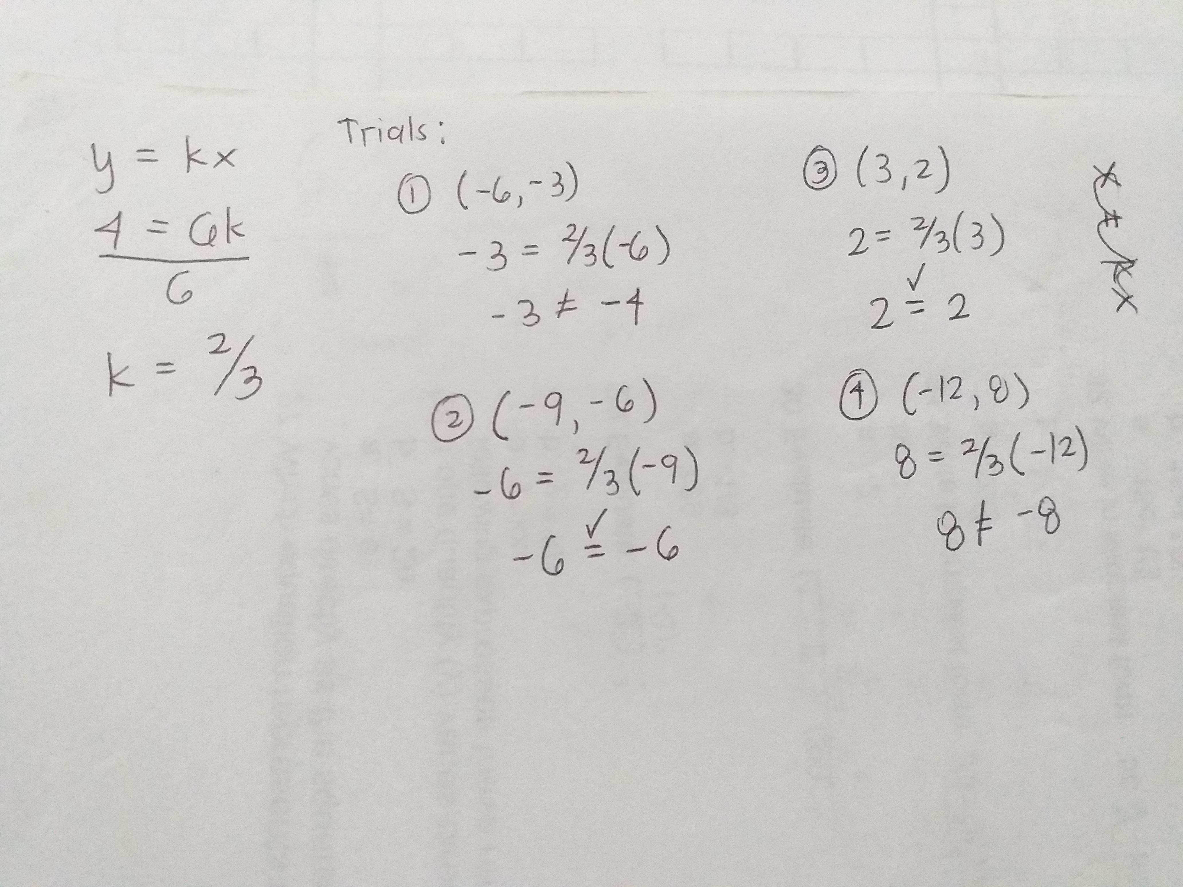 Select All That Apply A Direct Variation Equation Is