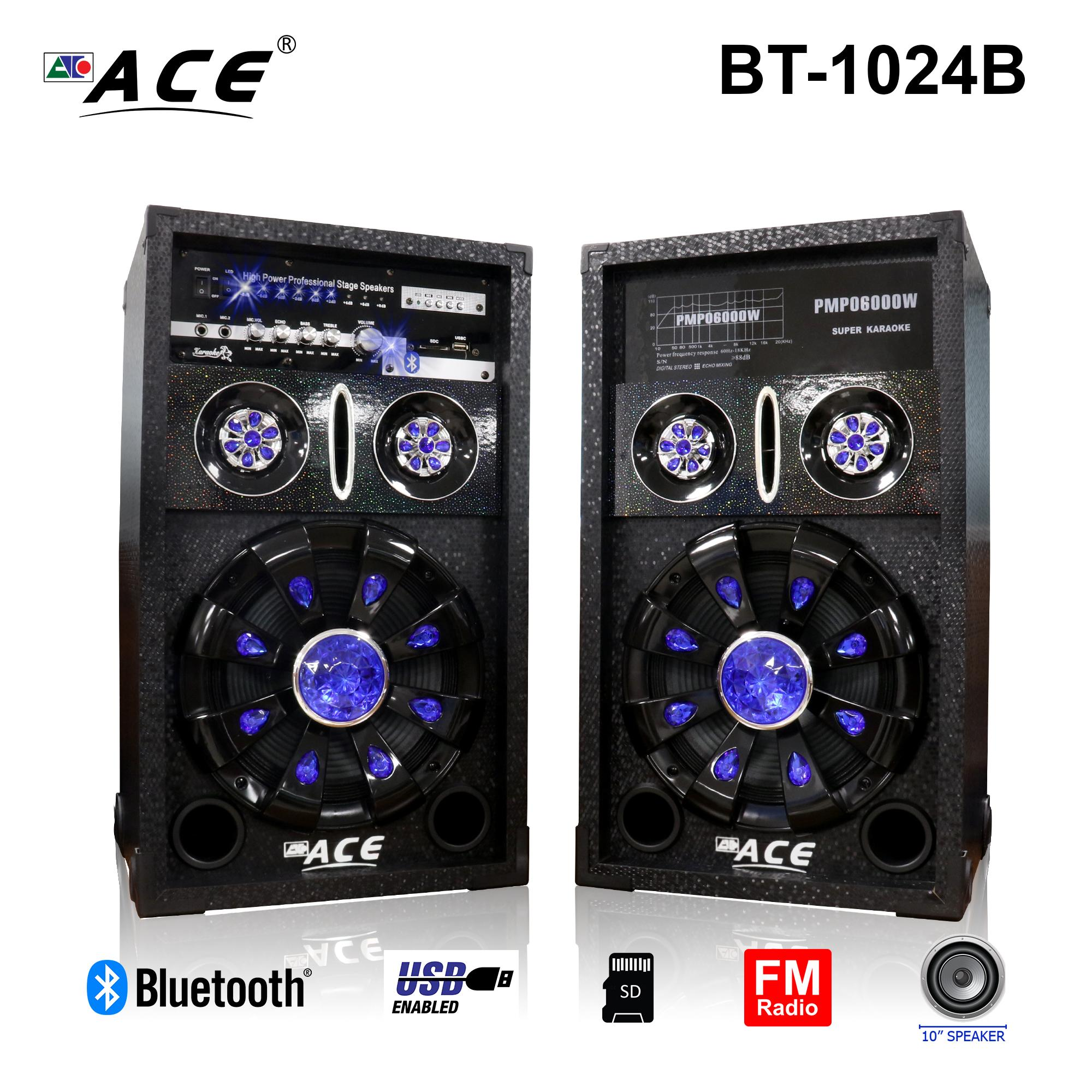 hight resolution of ace bt 1024b 10 professional sub woofer speaker with ampliflier