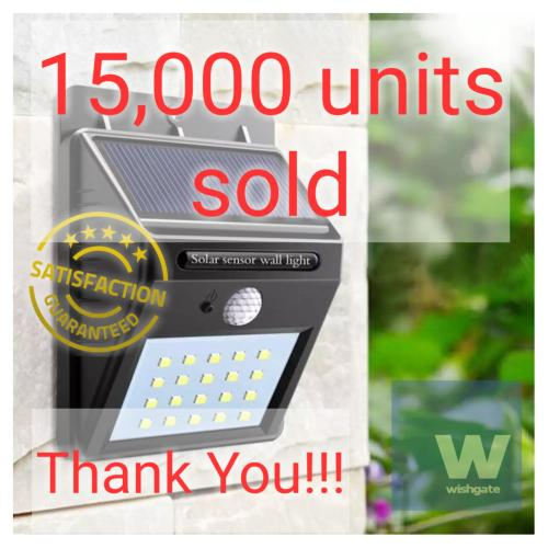 small resolution of wishgate solar wall light outdoor waterproof 20 led pir motion sensor great for patios