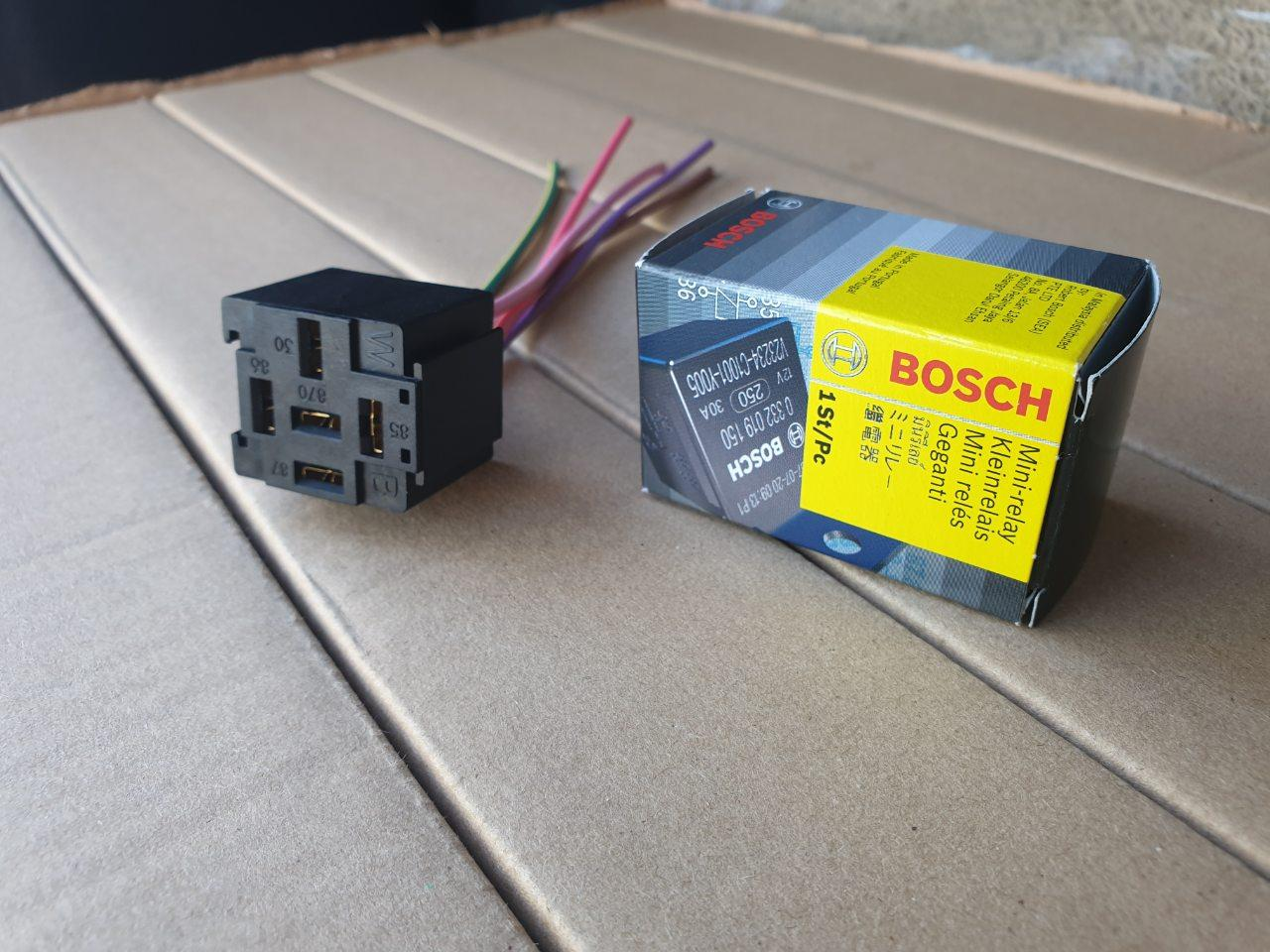 hight resolution of b o s c h relay and relay socket combo