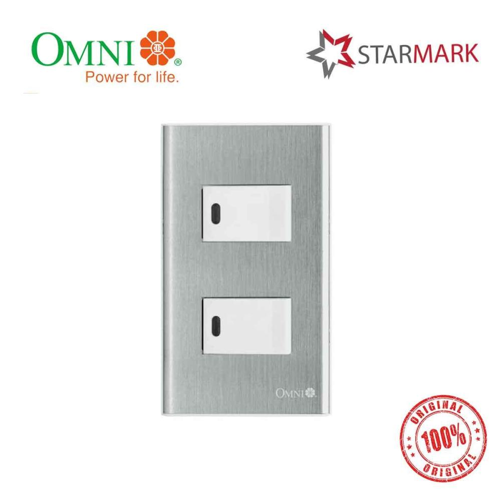 medium resolution of omni stainless plate with 2 pcs 1 way illuminated switch switches 2 gang sp2