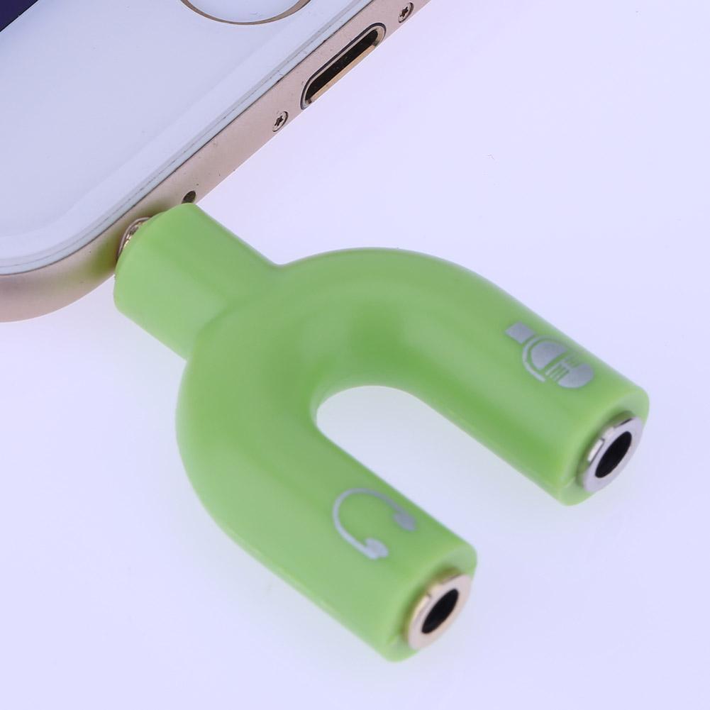 hight resolution of 3 5mm stereo audio jack earphone headphone 2 way u splitter adapter