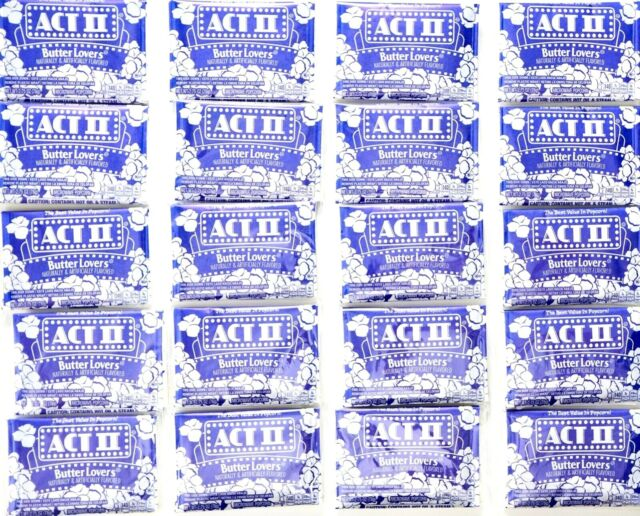 act ii butter lovers microwave popcorn 32pcs box