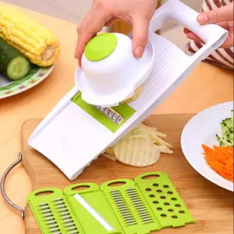 kitchen food slicer white small table 5 in 1potato mandolin vegetable for fruits and vegetables intl lazada ph