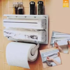 Dispenser Kitchen Outdoor Kitchens Ideas D Triple Paper Roll Holder For Tissue Aluminum Foil And Plastic Wrapping Lazada Ph