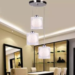 Living Room Ceiling Lights Modern How Decorate Small Dinning Light Simplicity Restaurant Chandelier Three Head Creative Crystal Bedroom Hanging