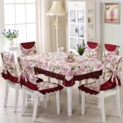 Tablecloths And Chair Covers Cheap Glider Chairs Vintage Floral Cover Polyester Banquet Lace Coffee Table Cloth Intl Lazada Ph